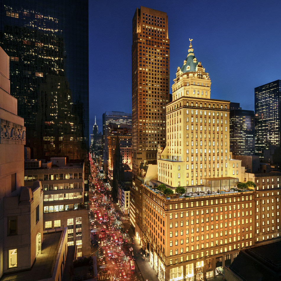 Manhattan's historic Crown Building will be home to Aman New York, including 22 private residences and 83 hotel rooms and suites.