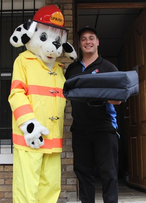 Domino's and the National Fire Protection Association are teaming up to deliver fire safety messages to homes across the country. Customers who order from participating Domino's stores during Fire Prevention Week may be surprised when their delivery arrives aboard a fire engine. If the smoke alarms in the home are working, the pizza is free. If the smoke alarms are not working, the firefighters will replace the batteries or install fully-functioning alarms.