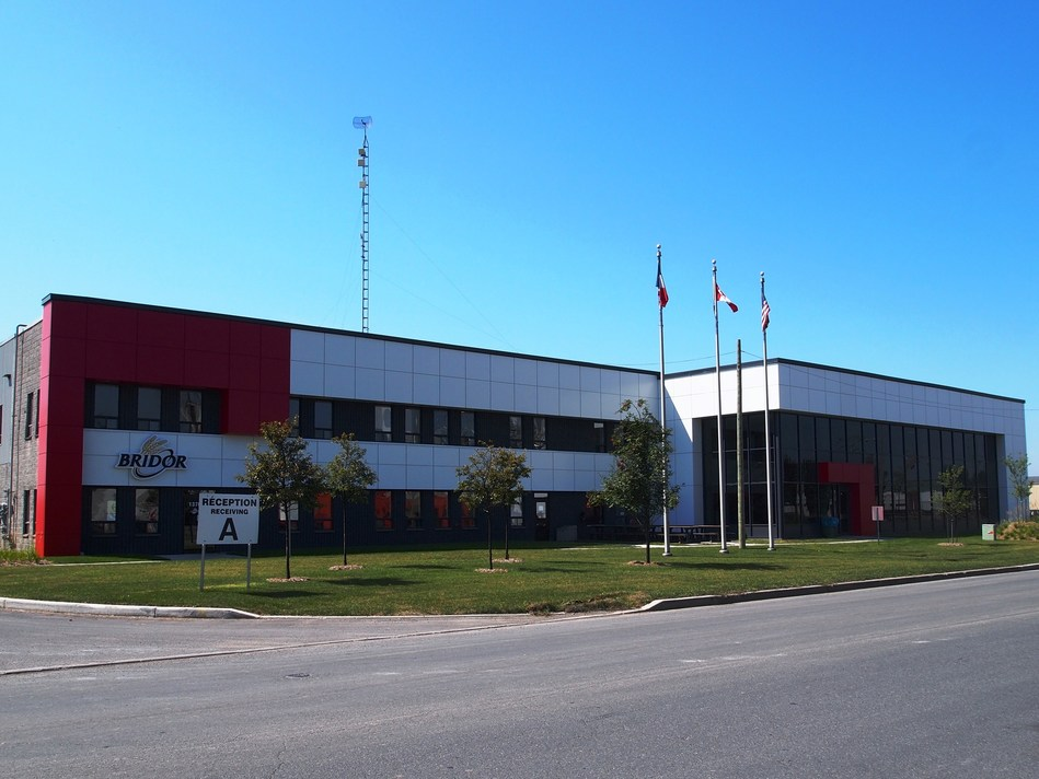 Head Office of Bridor in North America located in Boucherville, Quebec. (CNW Group/Bridor)