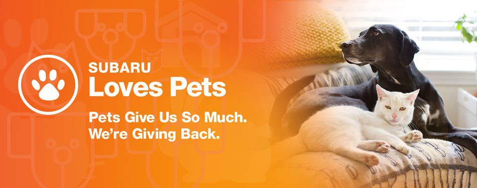 """Subaru of America reaffirms commitment to pets in need during October """"Subaru Loves Pets"""" month and establishes first-ever """"National Make a Dog's Day"""" on October 22."""
