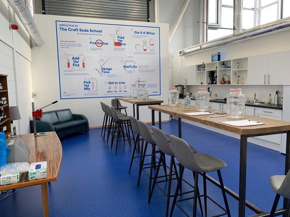 Inside the development lab at The Craft Soda School