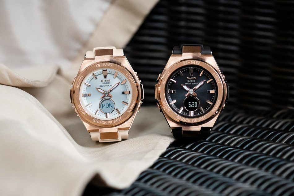 Latest timepieces arrive with stainless steel bezels and natural blush and brown colorways