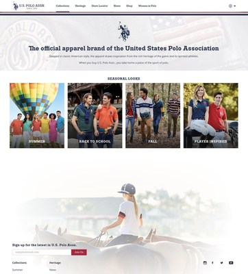 U.S. Polo Assn. Global Website Landing Page