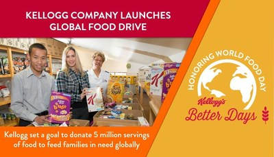 From Oct. 1 - Nov. 15 Kellogg employees will be participating in numerous in-person and online food drives, as well as meal-packing events around the world.