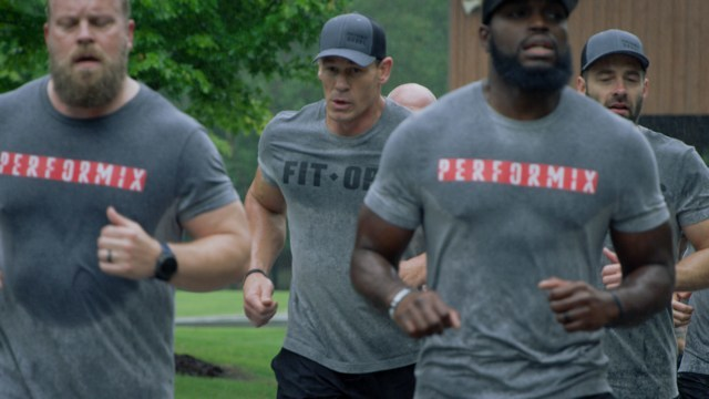 John Cena works out with U.S. veterans at a FitOps Camp.