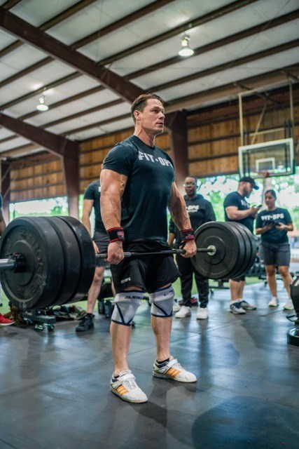 John Cena joins U.S. veterans at a FitOps Camp.