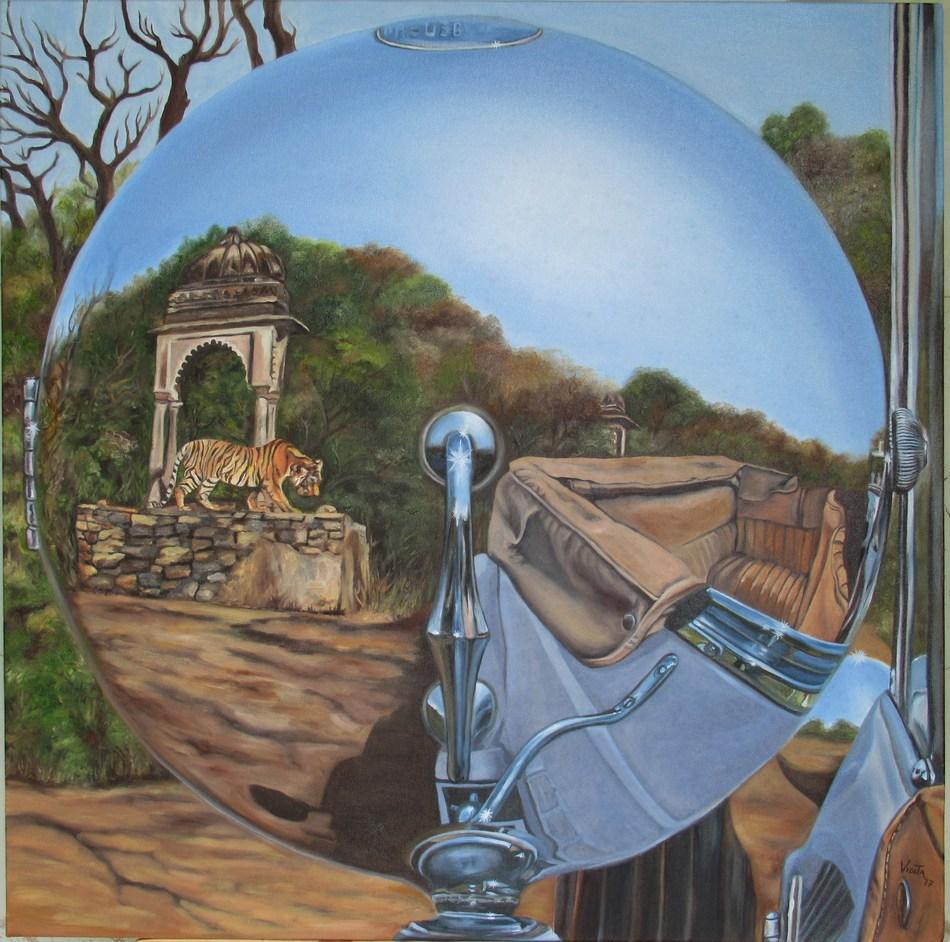 Reflections of Stephen Grebel by Maharajkumari Vidita Singh at Jaipur Art Summit