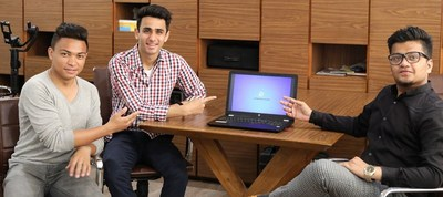 Team of Computer Science Engineering students of Chandigarh University who have developed the new Operating System