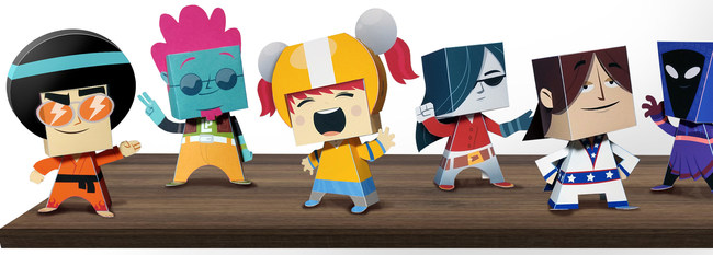 Kung Fu Boogie Paper Toy Character Lineup