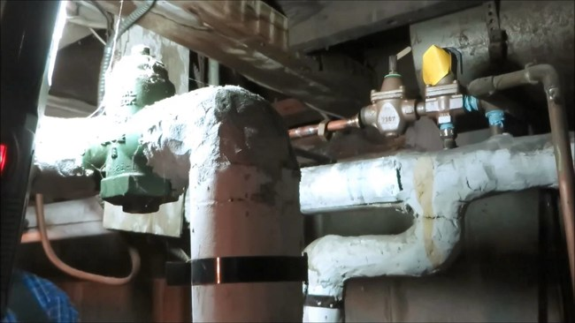 Asbestos Steam Pipes