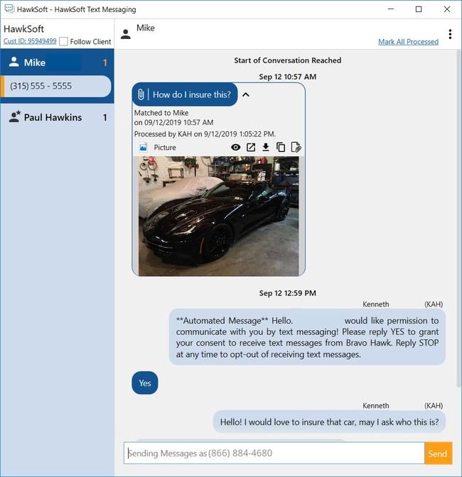 HawkSoft Text Messaging