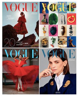 4 Portadas de octubre de Vogue México
