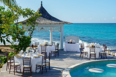 Couples Tower Isle Private Island Wedding Reception