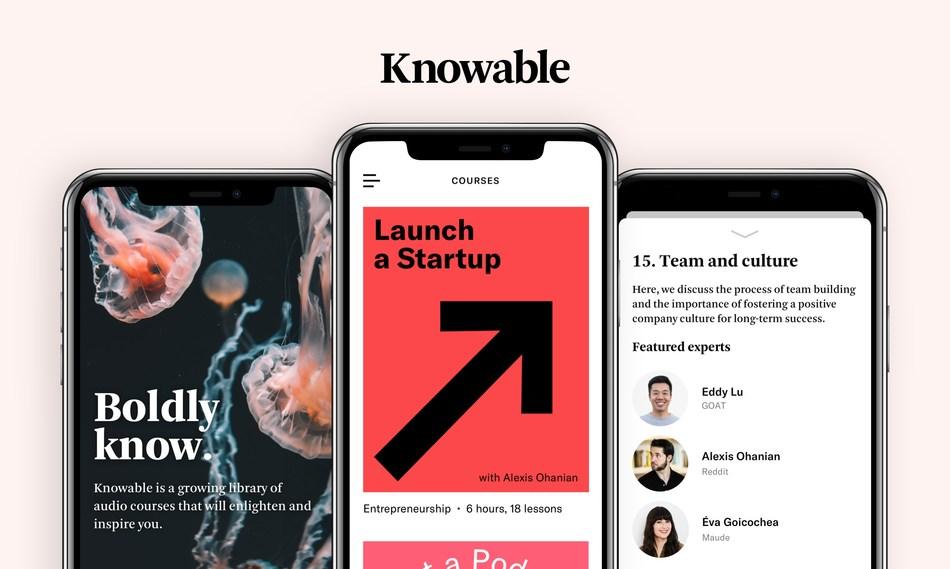 Knowable app screenshots