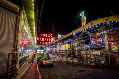 Magic in the Market, Pike Place Market's longest-running holiday tradition, includes a Market holiday lighting ceremony, visits with Santa, live entertainment, and more.