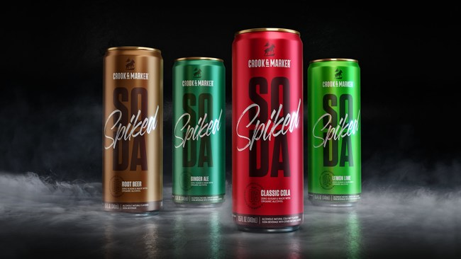 Crook & Marker Spiked Sodas will be available in Classic Cola, Root Beer, Ginger Ale and Lemon Lime.