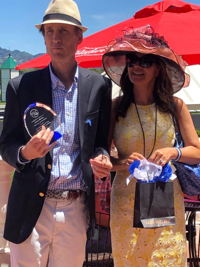DDF's new Board member Steve Melen and his wife serving as Event Chair for the 1st Annual Day at the Races in Berkeley, California on June 8, 2019.