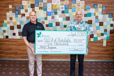 On Sept. 27, 'Ohana Health Plan donated $10,000 to the YMCA of Honolulu to support the Healthy Weight and Your Child (HWYC) program.