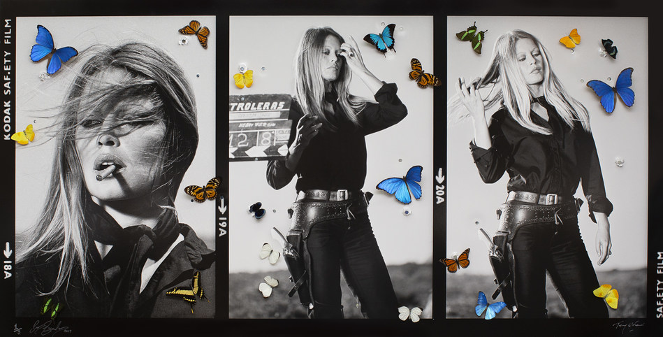 Hollywood Re-loaded Brigitte Bardot by Bran Symondson & Terry O'Neill, 2019 (101.6 cm x 76.2 cm). A special collaboration between Terry O'Neill and Bran Symondson presented by HOFA Gallery.