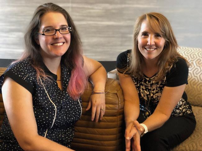 Jennifer Lemerand (left) and Anne Weber (right)