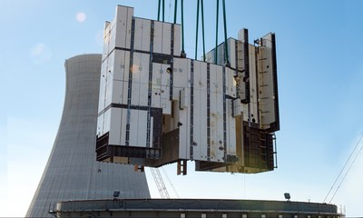 Two large modules moved into place at Vogtle 3 & 4 in 2016.