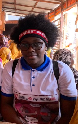 Desmond Tutu announces the winners of the International Children's Peace Prize 2019: Greta Thunberg (16) from Sweden and Divina Maloum (14) from Cameroon