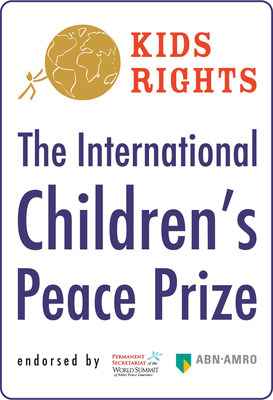 Desmond Tutu announces the winners of the International Children's Peace Prize 2019: Greta Thunberg (16) from Sweden and Divina Maloum (14) from Cameroon.