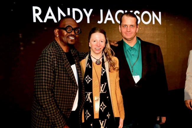 Thane and Cynthia Murphy with American Idol's Randy Jackson at City Summit