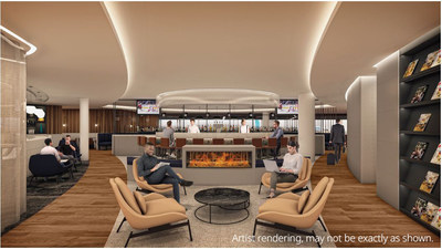 WestJet's flagship lounge in Calgary will give top-tier WestJet Rewards members and select partner members a refined environment to work and rejuvenate. (CNW Group/WESTJET, an Alberta Partnership)