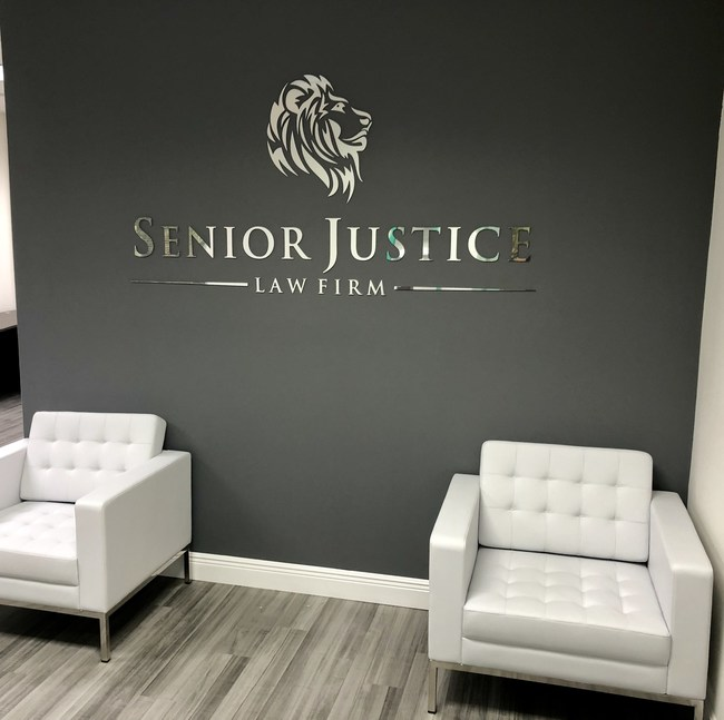 Lobby of Senior Justice Law Firm, located at 7700 Congress Ave., #3216, Boca Raton, FL 33487