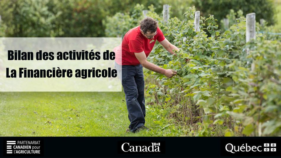 Bilan des activités 2018-2019 de La Financière agricole du Québec (Groupe CNW/La Financière agricole du Québec)