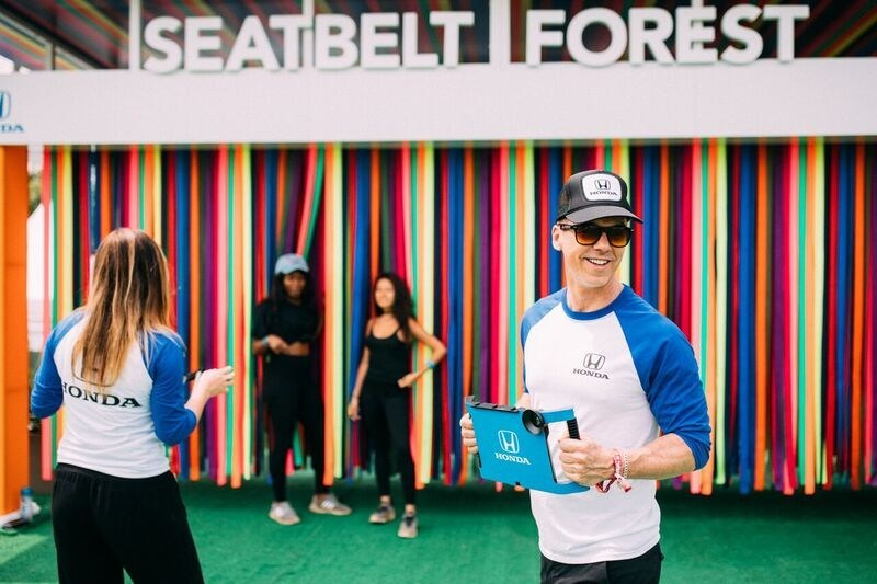 Honda will have multiple GIFographers roaming the Seat Belt Forest to help fans capture shareable GIFs, boomerangs and photos.