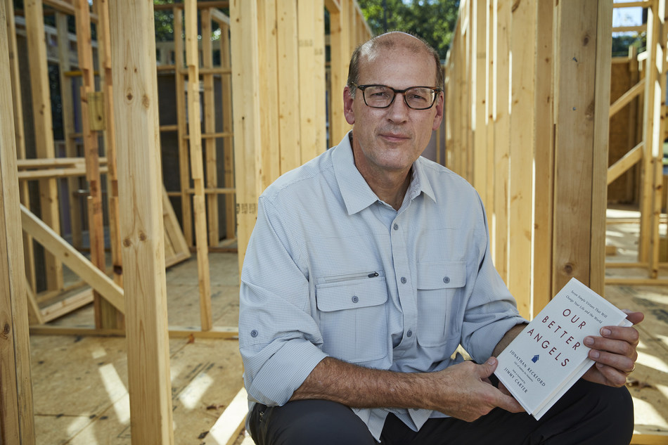 Habitat for Humanity International CEO Jonathan Reckford, pictured here at a Habitat build site in Atlanta, authored Our Better Angels, available for purchase Oct. 8.