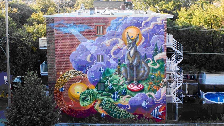 La Création, Une nouvelle murale dans le quartier de Sainte-Marie © KOLAB (Groupe CNW/Ville de Montréal - Arrondissement de Ville-Marie)