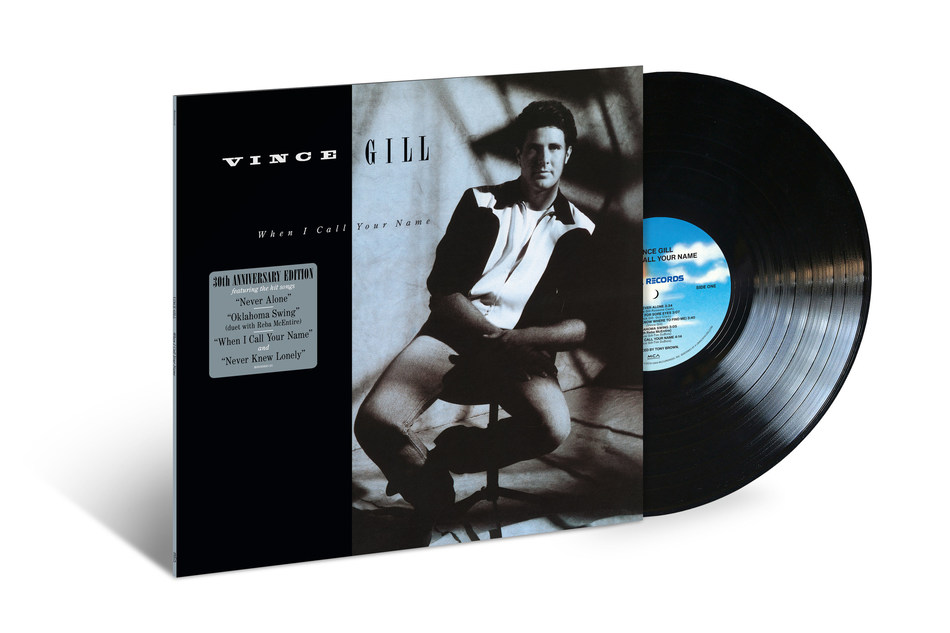 """On November 15, MCA Nashville/UMe will commemorate the 30th anniversary of Vince Gill's 1989 classic album, """"When I Call Your Name,"""" just one day after its original release thirty years ago, with two new sparkling vinyl editions of the influential collection."""