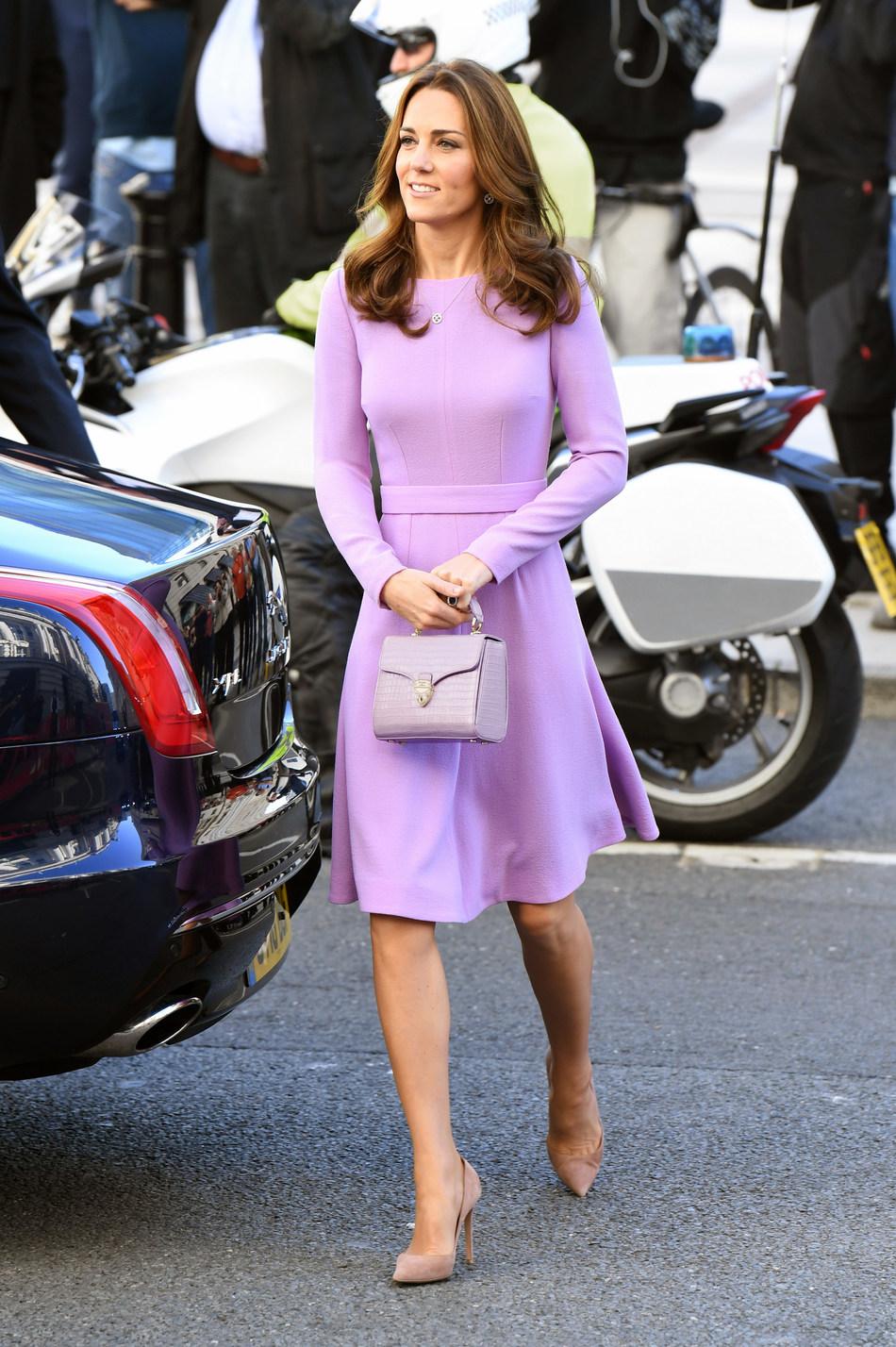Duchess of Cambridge carrying Aspinal of London Midi Mayfair Bag.