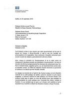 Réponse de François Legault à Émilise Lessard-Therrien et Manon Massé (Groupe CNW/Aile parlementaire de Québec solidaire)