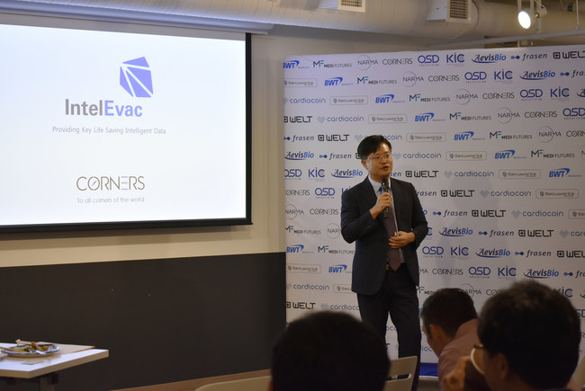The winner of the pitch competition was Tony Kim, CEO of Corners Co., Ltd.