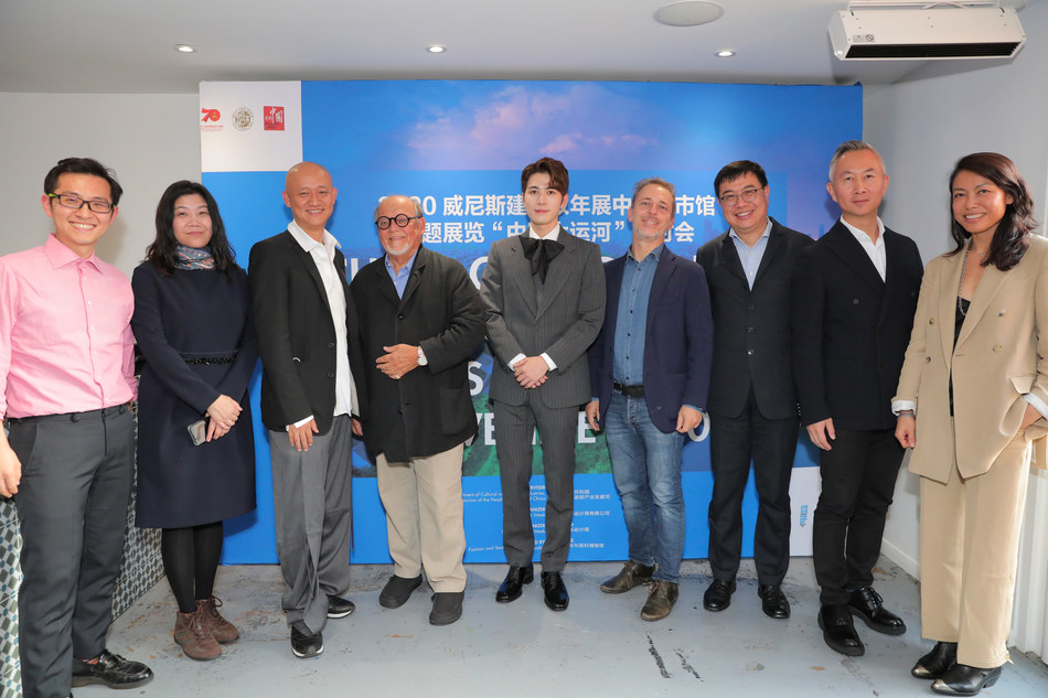 """Chen Xuedong (actor), ambassador of """"Creative Protection of the Grand Canal Charity"""", participating activities in London."""