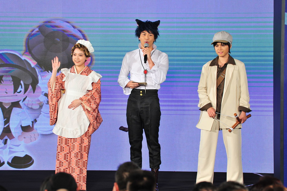 The Host (Dressed as A Catboy) and the Cosers