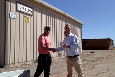 ?Reuben Garcia, Masten Director of Technical Operations with MSBAI CEO, Allan Grosvenor in Mojave California