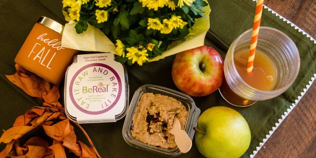 BeReal Doughs grab-and-go cookie dough snack cups are gluten-free, organic, plant based, delicious lunch treats.
