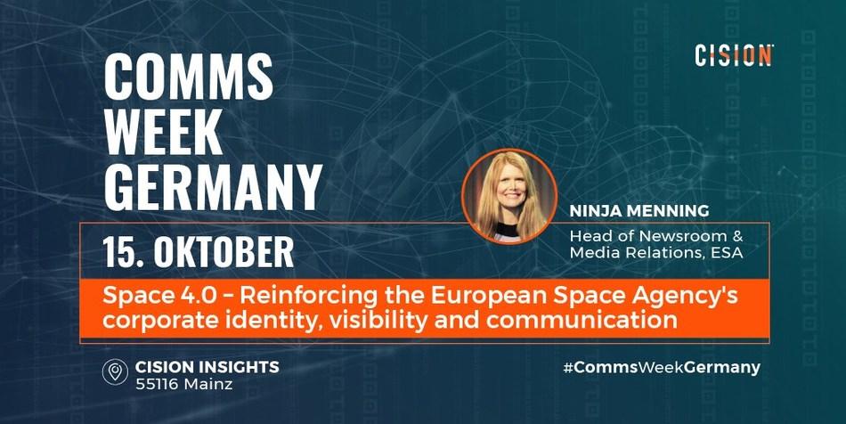 Ninja Menning, Head of Newsroom & Media Relations at ESA