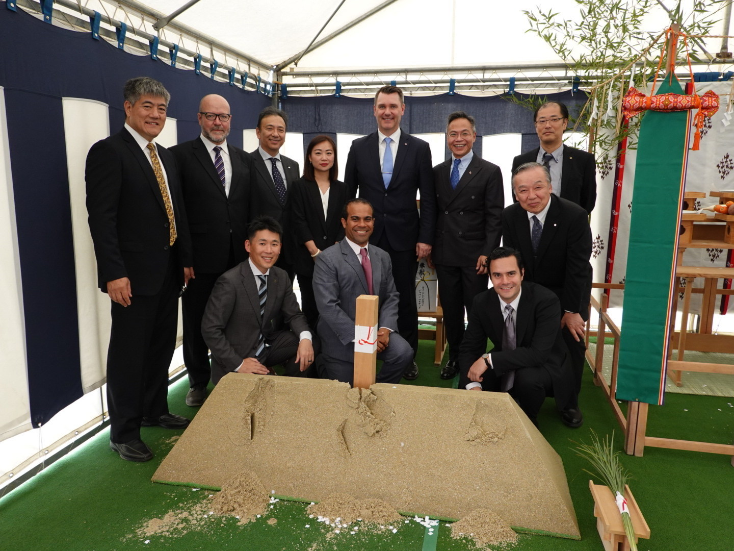 Carnival Corporation today officially began construction on the cruise industry's first cruise terminal at the port of Sasebo in Japan with a groundbreaking ceremony attended by government, business and community representatives