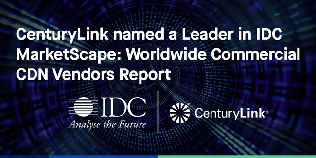 CenturyLink recognized for the scope and scale of its deeply peered global network and comprehensive content delivery services.