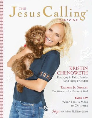 Author, actress, singer and philanthropist, Kristin Chenoweth, is the first person to appear on the cover of the Jesus Calling Magazine.