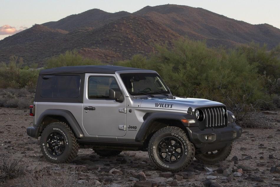 2020 Jeep Wrangler Willys featuring Firestone Destination M/T2 tire line