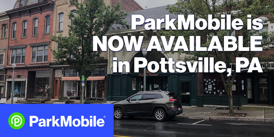 ParkMobile has partnered with the City of Pottsville to enable drivers to pay for parking from their mobile device. The ParkMobile app is now available at approximately 800 spaces around the city.