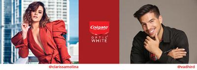 """La Presentadora de televisión Clarissa Molina y el Actor Vadhir Derbez se unen a """"trendsetters"""" en el Café Colgate® Optic White® para disftrutar y conocer sobre la ciencia detrás de una sonrisa más blanca"""