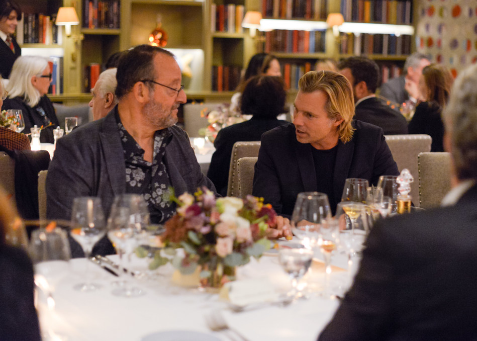 """Jean Reno and Ludovic du Plessis at the release of """"The Broken Butterfly"""", directed in 1919 and restored 100 years later in 2019 by The Film Foundation and LOUIS XIII Cognac"""